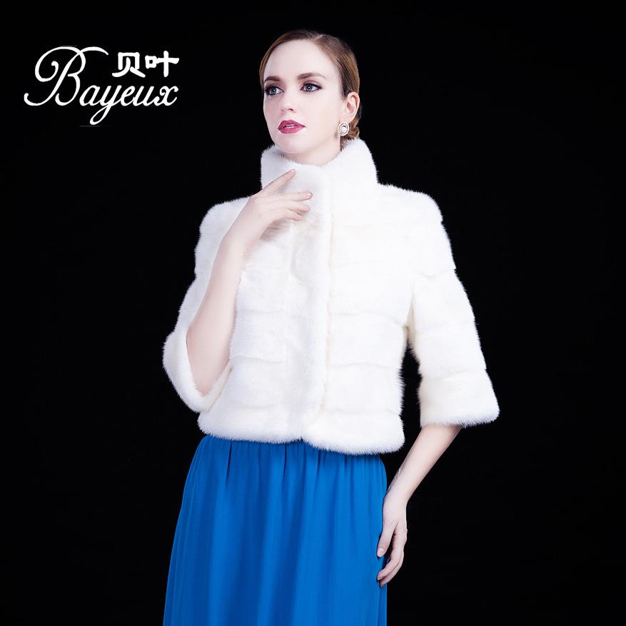 2014冬装新款进口水貂裘皮大衣海宁皮草外套立领短款高端女装