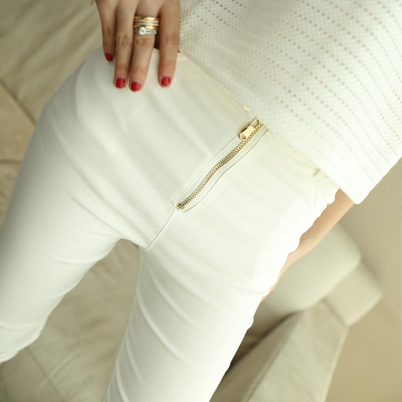 包邮春秋新款女装大码显瘦高腰弹力打底裤修身外穿小脚裤铅笔长裤