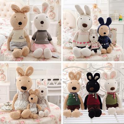 包邮正版砂糖兔公仔抱枕毛绒玩具兔子宝宝布娃娃六一儿童节礼物