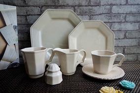 多边精美台面酒店摆台餐具餐厅宾馆盘碗套装浮雕奶别咖啡杯黄油盒