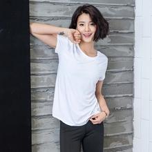 上衣 瑜伽服健身跑步短袖 速干运动T恤女显瘦透气镂空夏装 2017新品