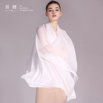 纯白色真丝丝巾女士春秋季婚纱披