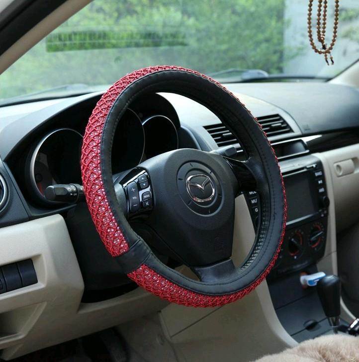 特价夏季冰蚕丝汽车方向盘套冰丝方向盘套内径38CM通用型新店酬宾