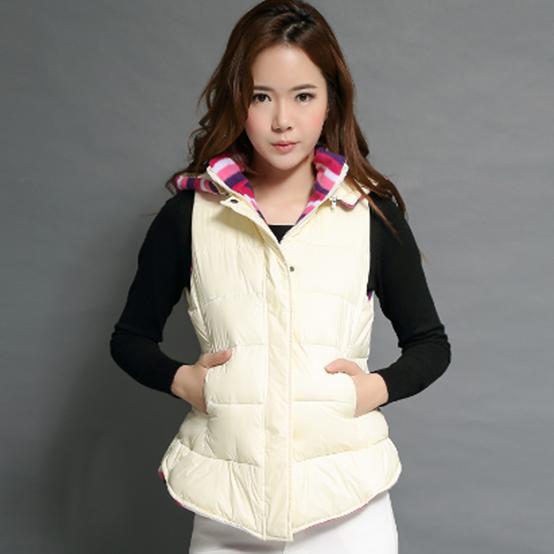 韩流 2014秋冬季女装新款高档时尚韩版修身女士马甲棉衣外套