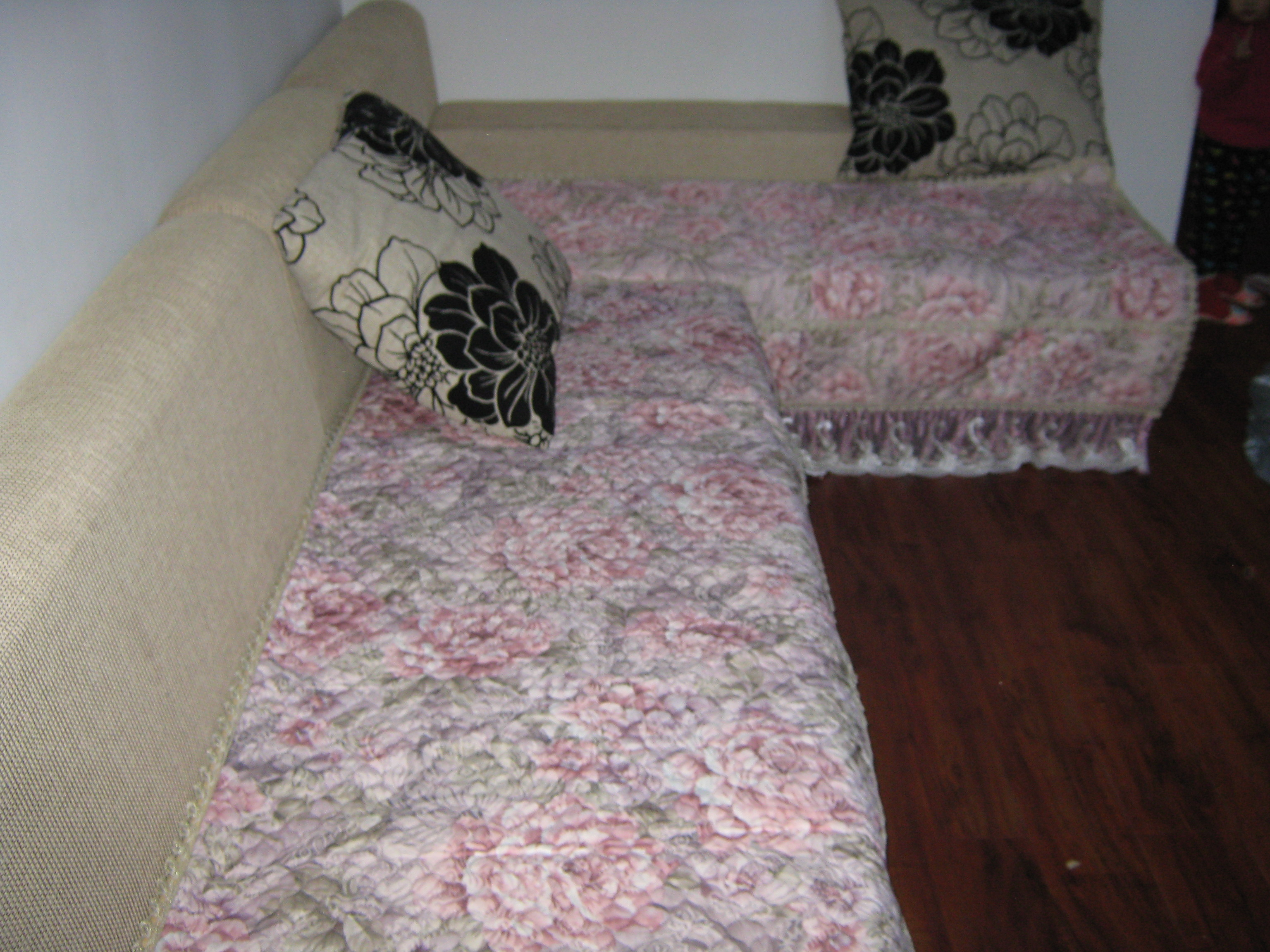 法兰绒沙发垫布艺时尚防滑冬季毛绒沙发垫子坐垫加厚沙发巾套巾罩
