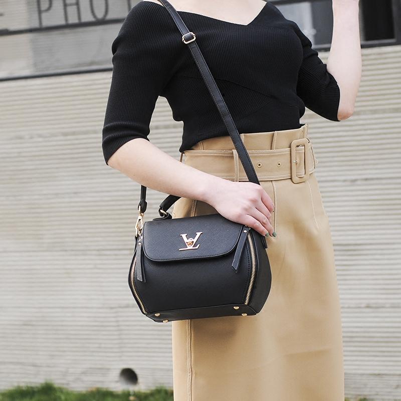 单肩包百搭小包包手提包女女包韩版时尚挎包锁扣斜