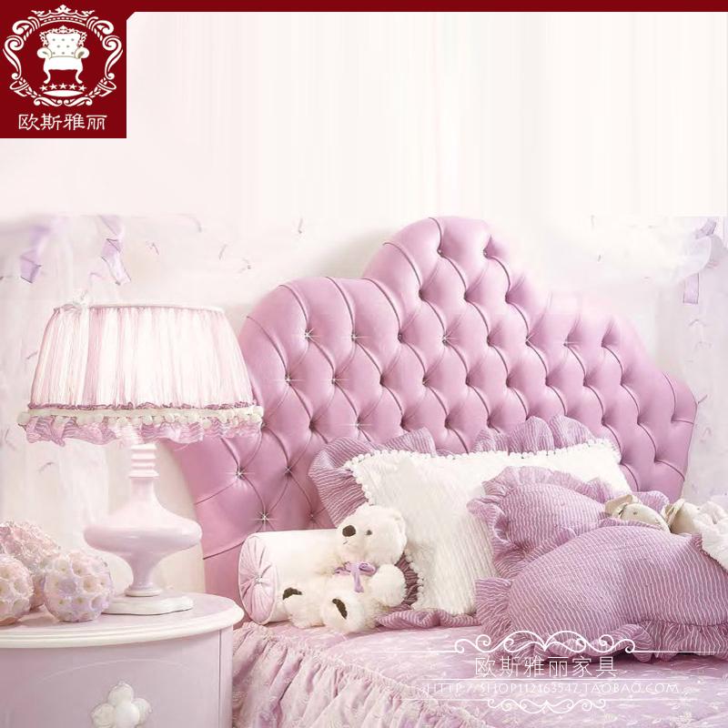 儿童床实木女孩公主床1.2米欧式卧室单人床软包床1
