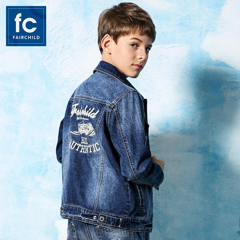 童装男童外套春秋款中大童13牛仔外套15岁儿童夹克男孩秋冬款上衣