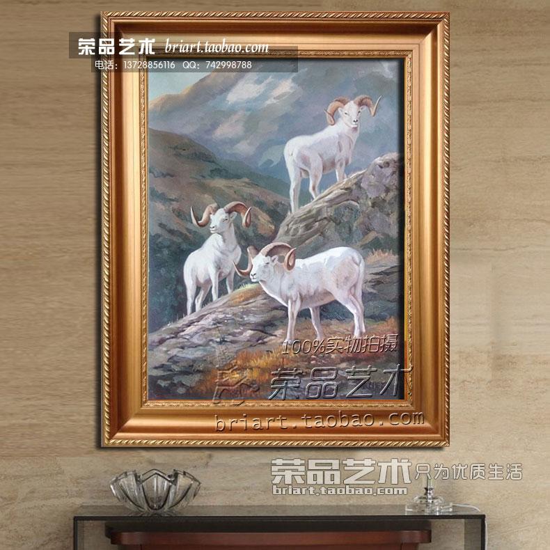 欧式油画有框客厅手工手绘古典玫瑰花卉风景玄关简约