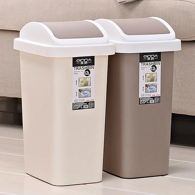 垃圾桶家用卫生间有盖欧式塑料创意垃圾桶客厅卧室厨房带盖大号筒