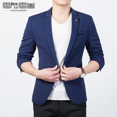 2017春装新款休闲小西服男修身英伦青年男士外套韩版西装男单西潮