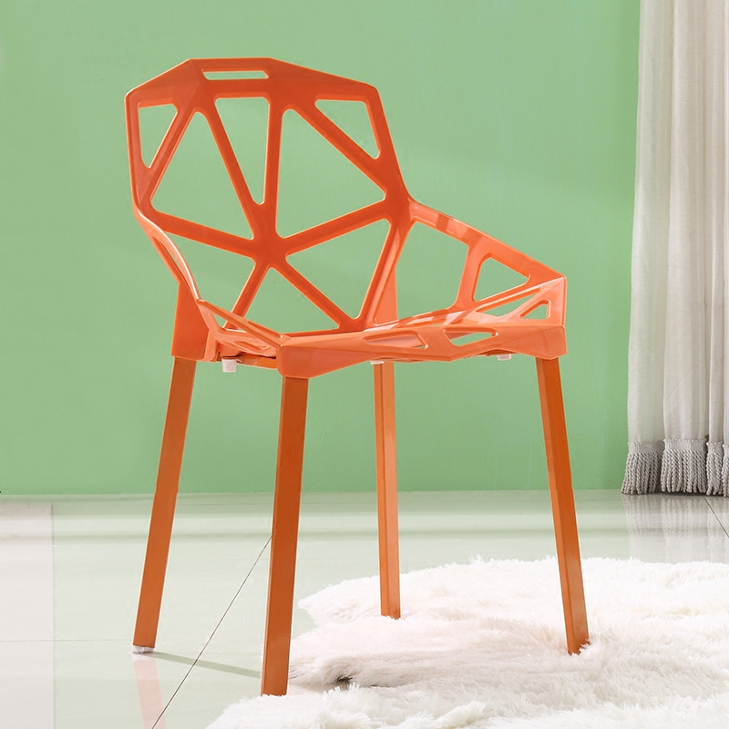创意椅子时尚现代简约书桌椅家用电脑椅靠背凳子餐桌北欧塑料餐椅