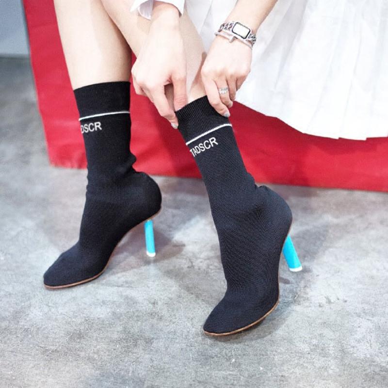 打火机袜靴高明星毛线靴中筒短靴女潮片段施薇语文作文弹力高中好图片