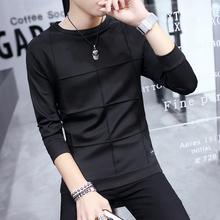 2017春季新款长袖T恤男圆领卫衣韩版薄款男装上衣修身男士打底衫
