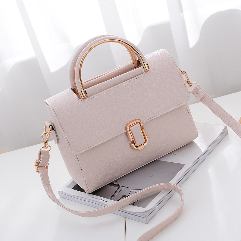 挎包潮日韓版簡約百搭小方包手提包女士包包單肩斜
