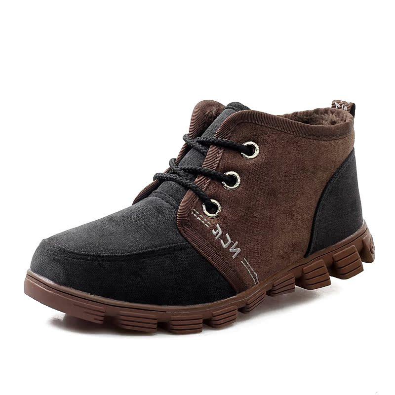 冬季正品高帮加绒登山鞋 男 保暖户外休闲鞋防滑户外运动鞋徒步鞋