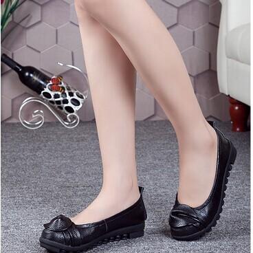 2014单鞋真皮豆豆鞋妈妈女鞋单鞋大码圆头平底鞋浅口休闲鞋