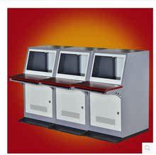 拼装三联琴台三位监控操作台监控电视墙柜监控机柜机柜