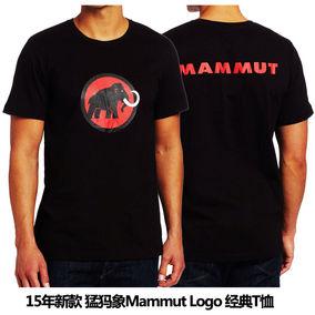 美淘现货-猛犸象Mammut Logo shirt有机棉短袖T恤汗衫 新款印度产