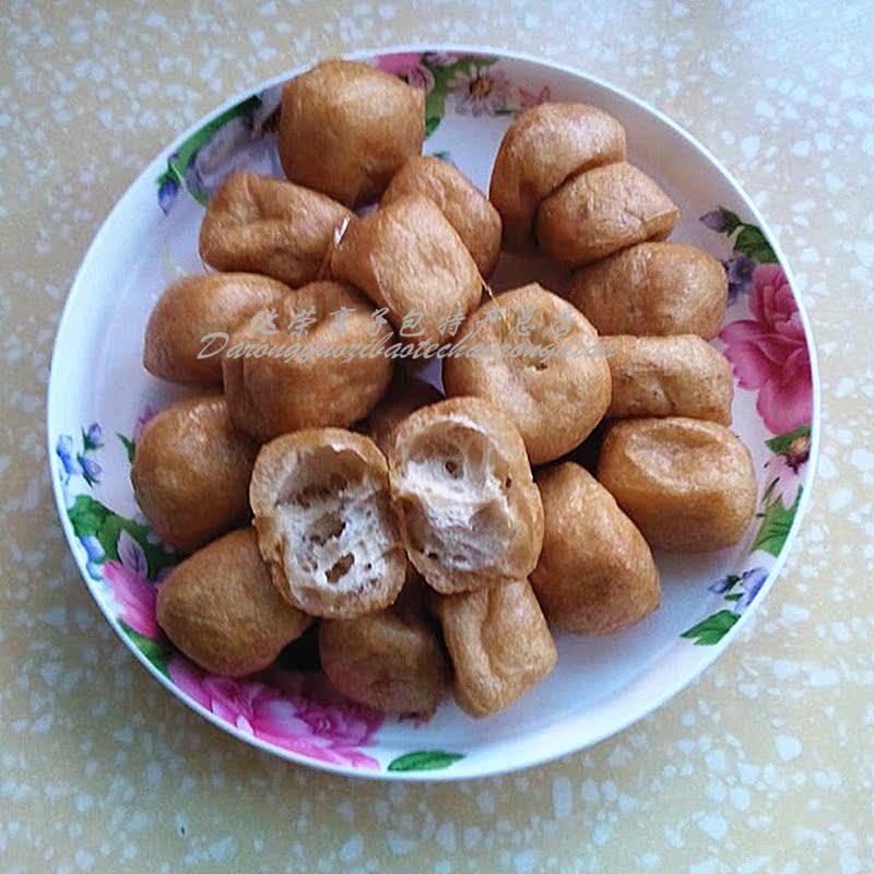 黄山特产徽州农家美食小菜 豆腐角 油豆泡 煎炸豆角干 徽菜火锅料