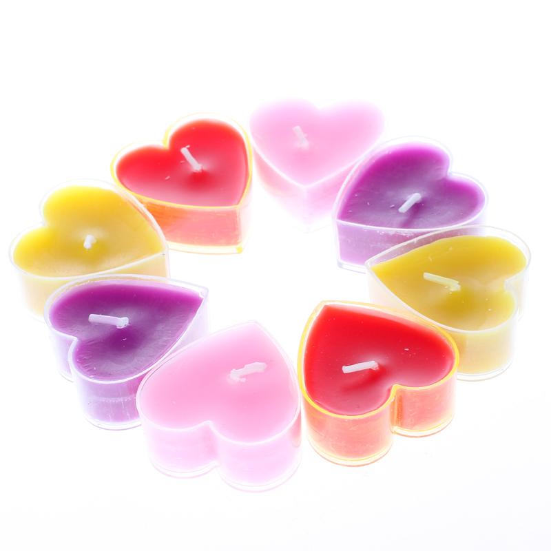 心形蜡烛浪漫派对聚会创意生日无烟小蜡烛求婚爱心形蜡烛表白求爱