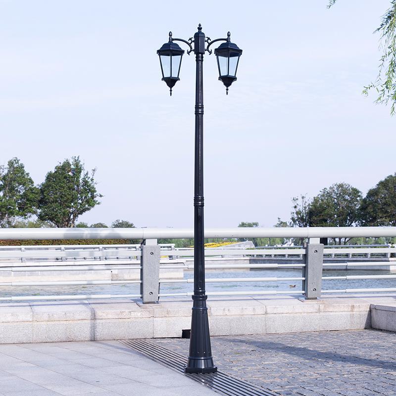 欧式室外草坪led双头庭院灯防水别墅室外景观路灯