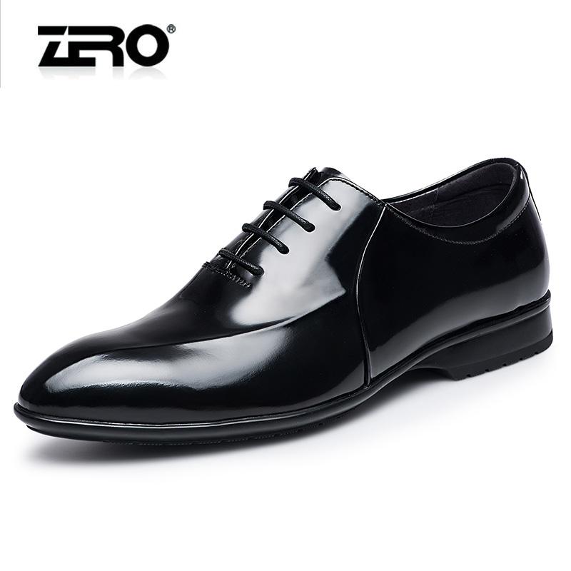 Zero零度正装皮鞋男2016新品时尚擦色流行真皮男鞋男士尖头婚鞋子