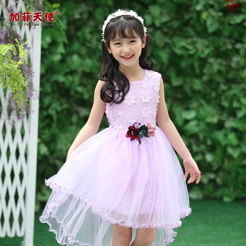 兒童夏裝公主禮服婚紗童裝裙子小女孩連衣裙女童
