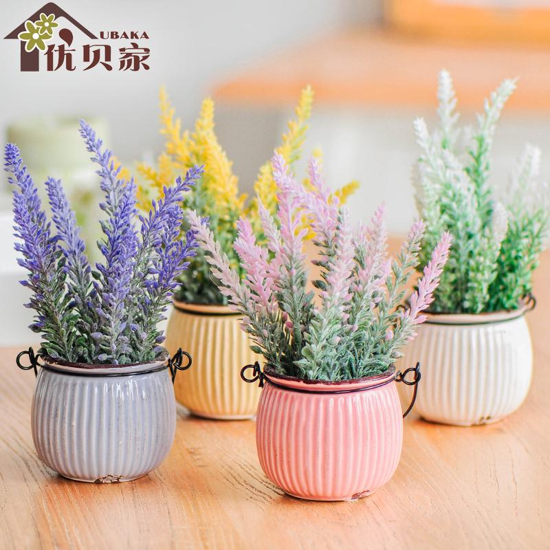 仿真花艺植物小盆栽 室内桌面套装装饰品摆件