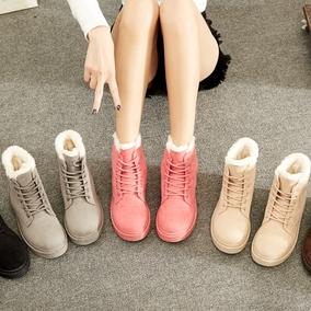 2017新款冬季保暖雪地靴女学生平底短靴女鞋短筒靴子加绒韩版棉鞋