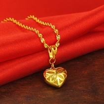 2015新款日本代购凹凸方形金牌复古十字架吊坠18K黄金项链吊坠女
