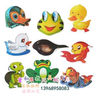 小蝌蚪找妈妈 角色表演道具 青蛙鸭乌龟鲤鱼动物头饰 亲子游戏图片