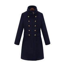 秋冬新品韩版毛呢大衣呢子双排扣外套冬季女装英伦风女大包邮