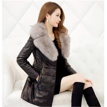 外套 修身 海宁皮衣新款 绵羊狐狸毛皮草女装 大码 真皮羽绒服女中长款