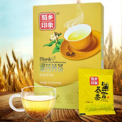 蜀乡印象黑苦荞茶 全胚芽型茶120g 苦荞麦茶 四川特产大凉山苦荞