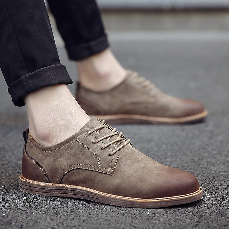 春款男士休闲鞋商务流行百搭英伦风韩版男鞋子