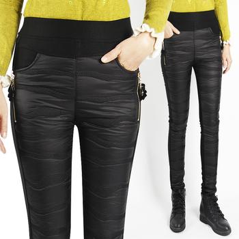 高腰加厚外穿羽绒裤女冬季弹力显