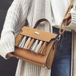 包包2016新款女包斜挎包韩版手提包时尚单肩包百搭小方包流苏小包