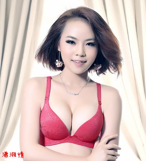 凯蒂简少女简约时尚提花一片无痕性感光面文胸内衣3312