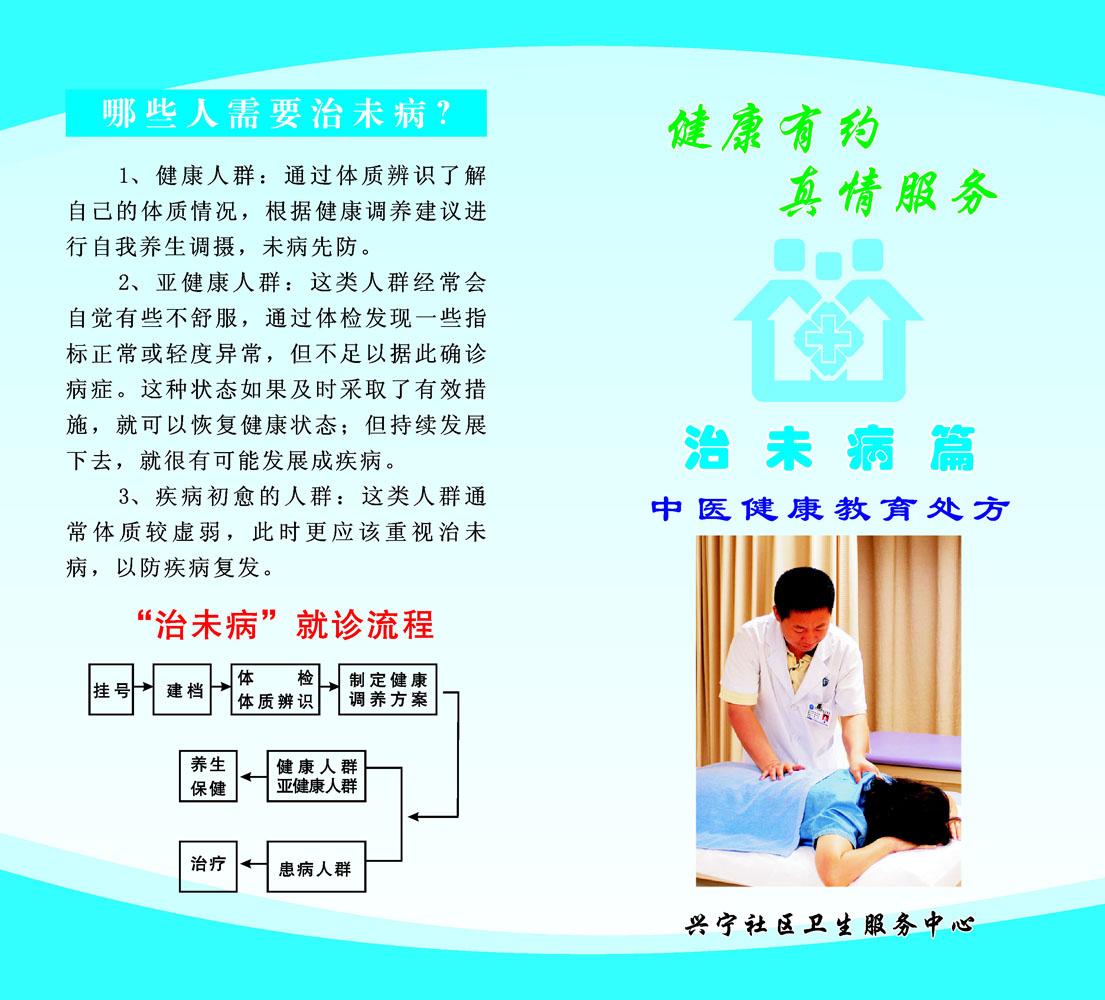 626办公装修海报展板素材16中医健康教育处方治未病篇宣传单