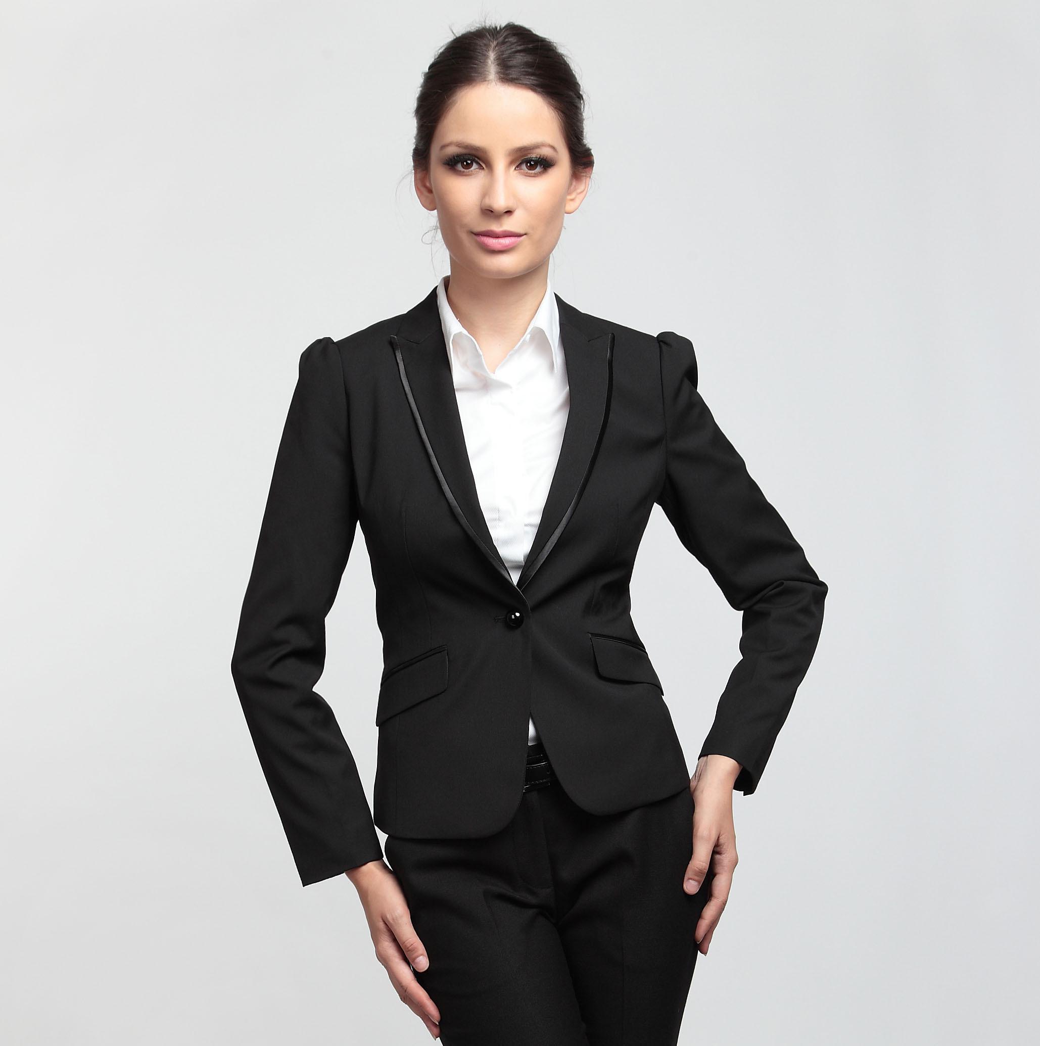 W94/g2000女西装秋冬女装西装套装 时尚竖纹免烫修身小西装外套女