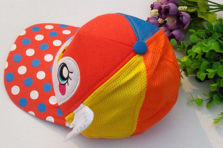宝宝帽子春夏季 儿童帽子网眼帽 男童帽遮阳帽太阳帽 小孩帽