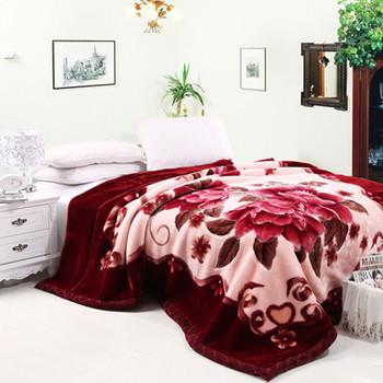 拉舍尔毛毯超细柔秋冬季加厚双层