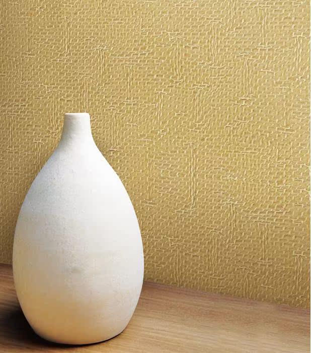 黄色仿褶皱纹-代购韩国正品壁纸-客厅沙发电视卧室背景满铺墙纸