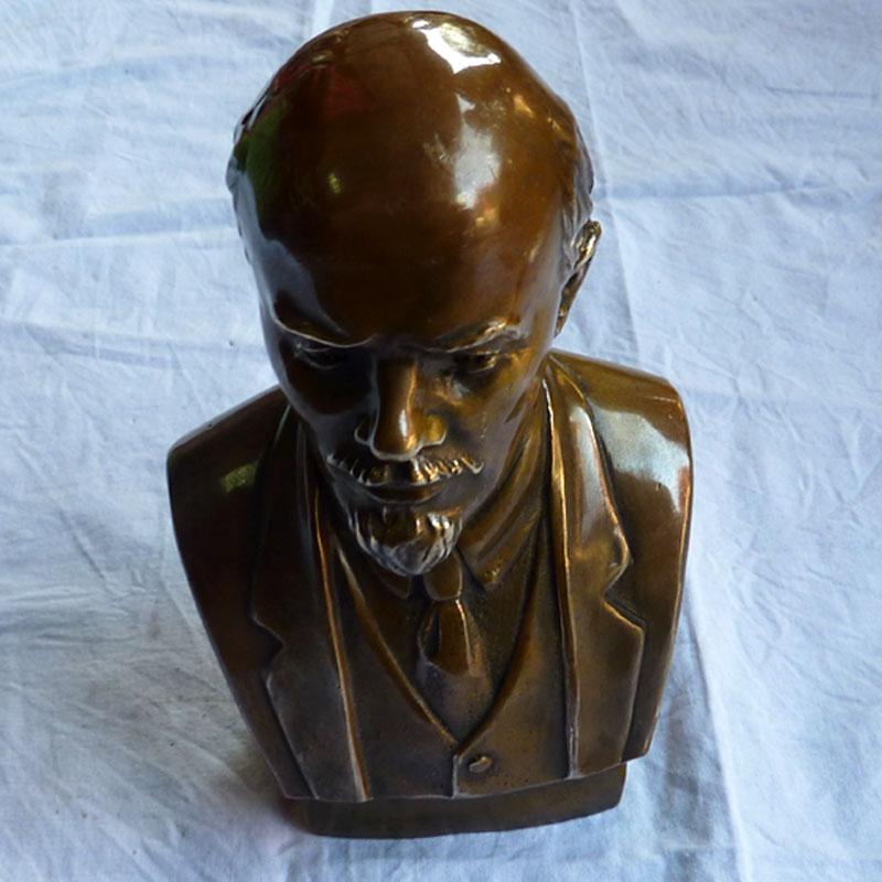 精品铸造纯黄铜器人物肖像摆件 特价西洋伟人半身铜像工艺品列宁