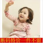 韩版童装纯棉花卉儿童家居服女童睡衣公主内衣套装2014新款韩版秋