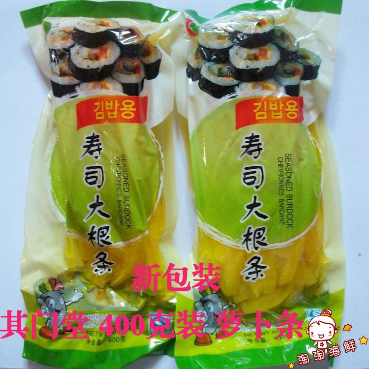 其门堂 出口韩国寿司萝卜条 寿司材料 紫菜包饭 酸甜脆爽 400g