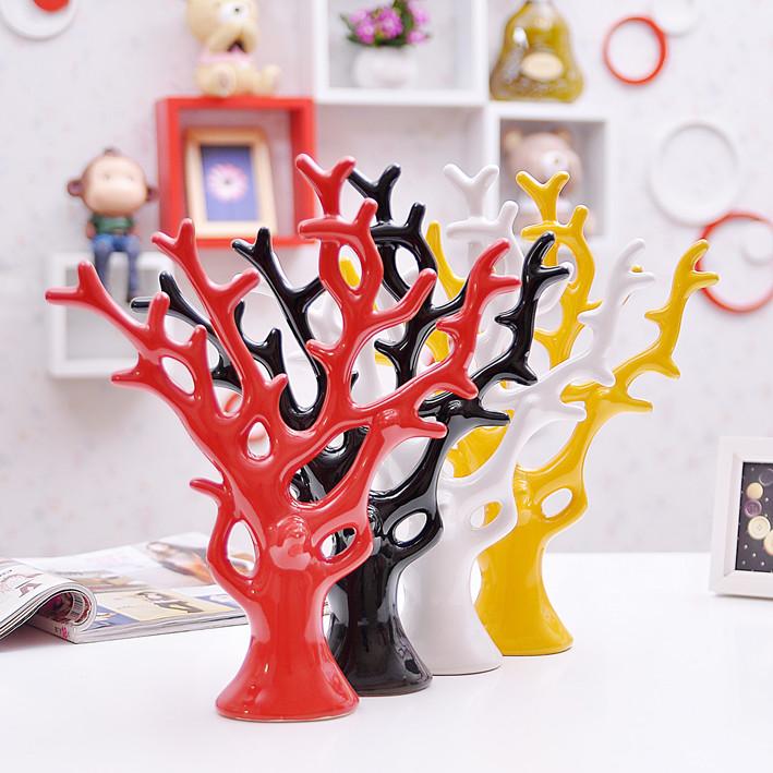 简约家居装饰品新房摆设 陶瓷工艺品 创意客厅摆件婚庆礼品爱情树