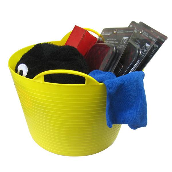 小钱汽车用品车载后备箱置物箱软桶收纳桶水桶PE桶25L桶工程塑料