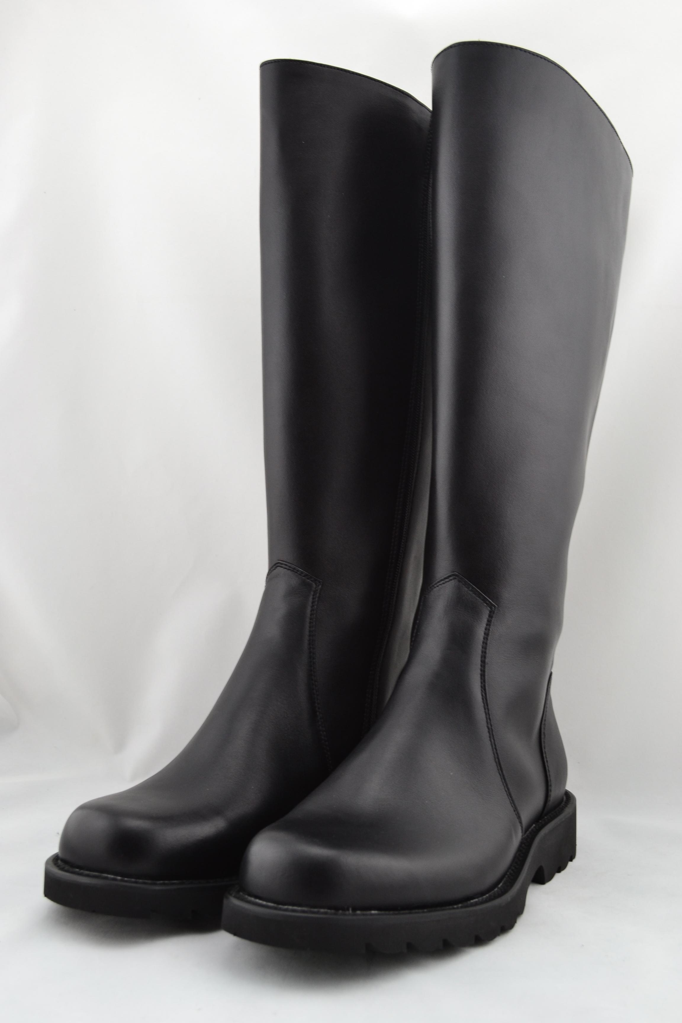 正品皮靴阅兵靴真皮皮靴直筒鞋防水鞋劳保鞋工作鞋户外靴